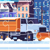Snow Plow Trucks Jigsaw